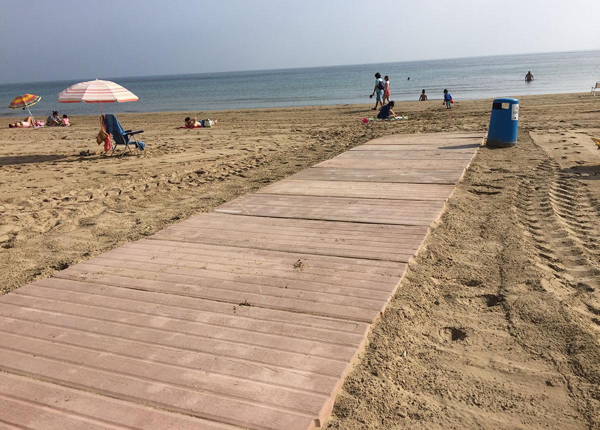 Pasarelas de playa