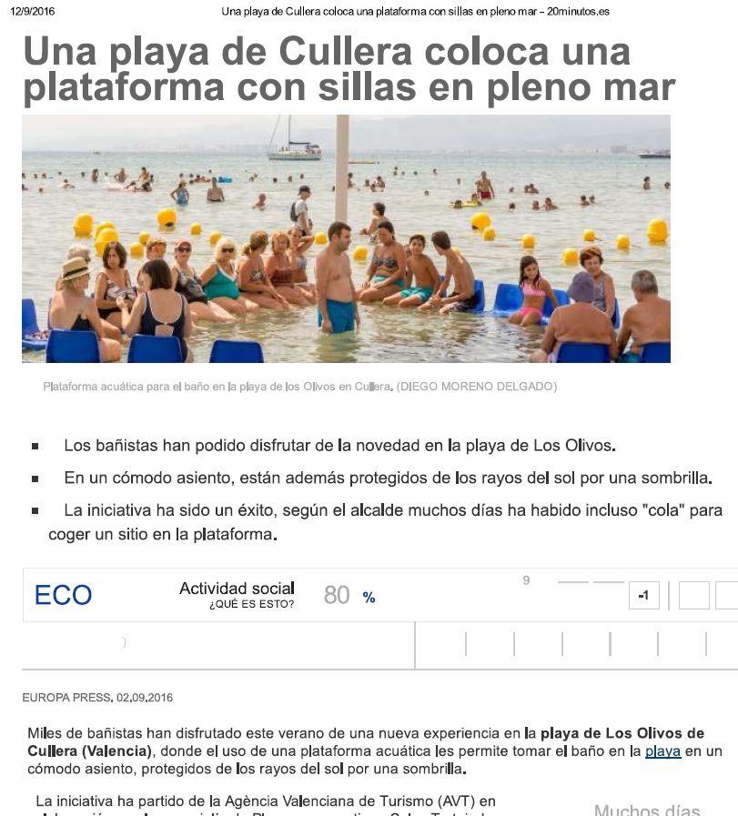 Nuevas Plataformas de baño adaptadas instaladas en playas este año 6