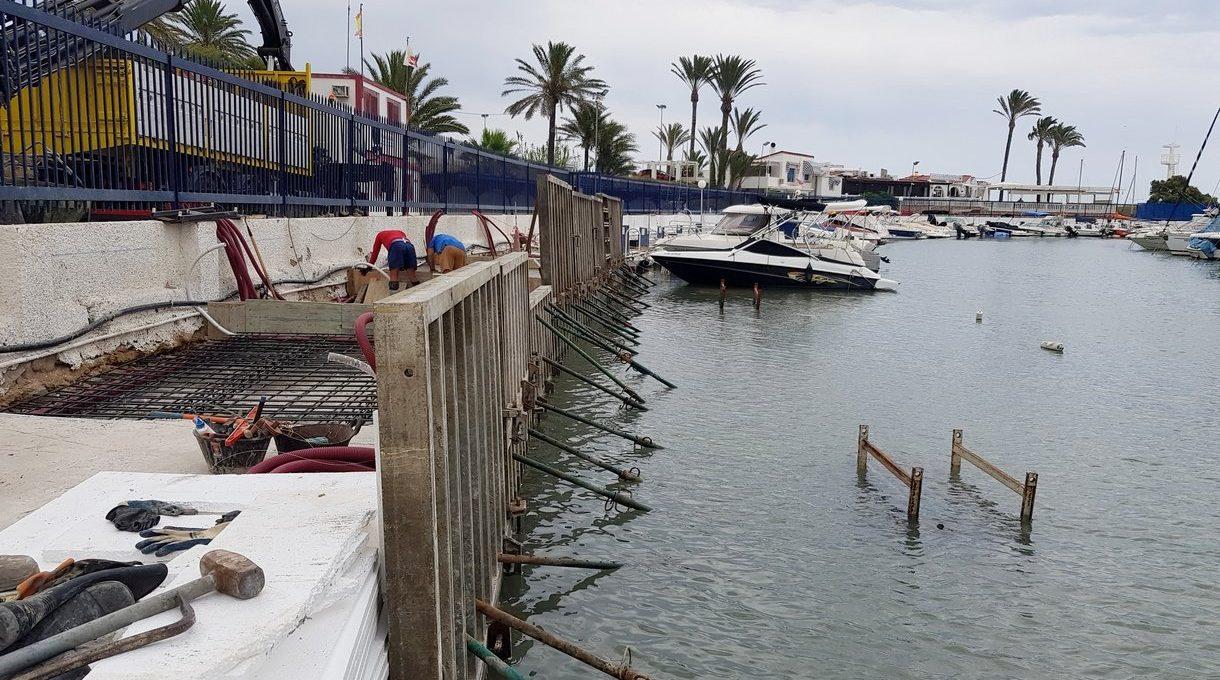 Construcción pantalanes Puerto de Campoamor 4