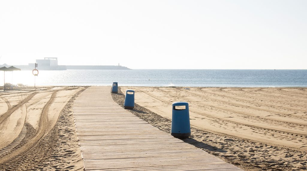 pasarela de playa